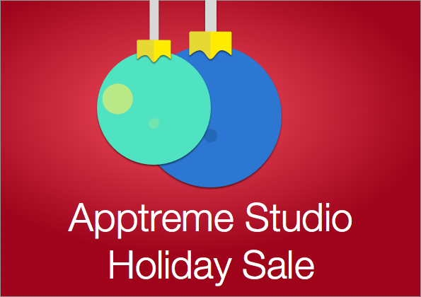 Apptreme Studio Holiday Sale