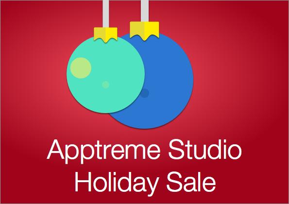 Apptreme Studio Holiday Sale